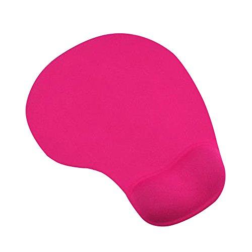 Cuitan Silikon Mauspad mit Handauflage, Rutschfeste Komfort Anti-Müdigkeit Mausmatte Mouse Pad Handgelenkstütze Handgelenkauflage Handballenauflage Mat für Laptop, Notebook, Computer, PC - Rose Rot