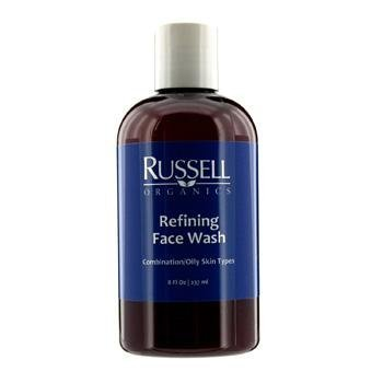 Russell Organics Refining Face Wash - For Facial Skin Care - Cruelty...