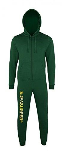 Sofasurfer® Overall Sweatoverall Jumpsuit Jumper mit und ohne Druck bottlegreen (mit Druck Sofasurfer)
