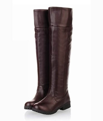 [10 size Yes all two colors] cosplay Attack on Titan Scouting Legion long boots shoes of my [Brown / Brown] [24cm / 38 / cafe] (japan import) (Schuhe Cafe)