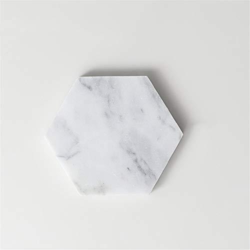 ZCHPDD Dessous De Verre Imperméable Anti-Brûlure Maison Pratique Décorer Dessous De Bureau White 01 9.5Cm*4Pcs -