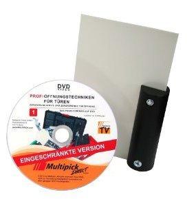 """Preisvergleich Produktbild Multipick Original: Türfallenöffnungskarte mit Griff """"schwarz"""" 0,5 mm inkl. Profi-Anleitung auf DVD"""