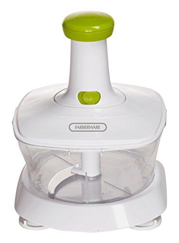 Farberware 5225958 Rice-n-Slice Manual Vegetable Ricer, White/Green