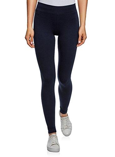 oodji Ultra Damen Leggings Basic (2er-Pack), Blau, DE 36 / EU 38 / S