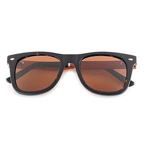 GSSTYJ Handgemachte Bambus Sonnenbrillen mit UV400 Schutz für Männer und Frauen beim Fahren, Laufen, Freizeitsport und Aktivitäten (Farbe : Tortoise Shell+Brazilian Rosewood)