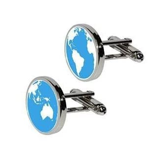 Blue Planet Earth Cufflinks Men's Space Astronomy
