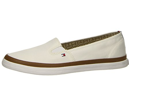 Tommy Hilfiger Damen Iconic Kesha Slip On Sneaker Weiß (Whisper White 121)