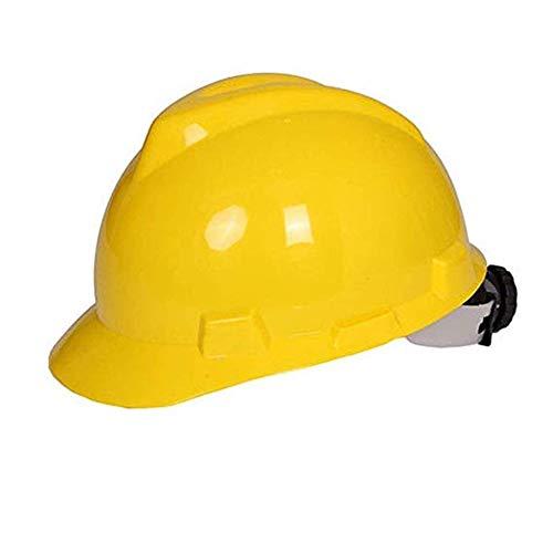 Kostüm Bauarbeiter Männlich - WYNZYSLBD Helm for Bauarbeiten Mit Schutzhelmen , Mit Belüftetem 6-Punkt-Helm for Bauarbeiter Mit Belüftung (Color : Yellow)