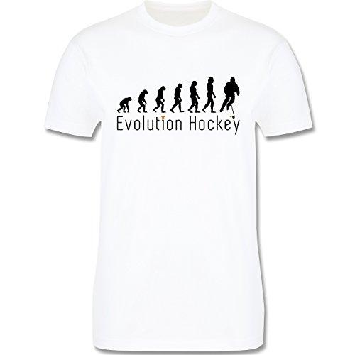 Evolution - Evolution Hockey - L - Weiß - L190 - Herren T-Shirt Rundhals