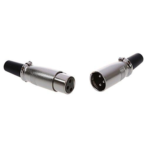 SODIAL (R) 5 Paar Male/ Female 3 Pin XLR-Klinkenstecker Mikrofon MIC-Audioanschluss - 3