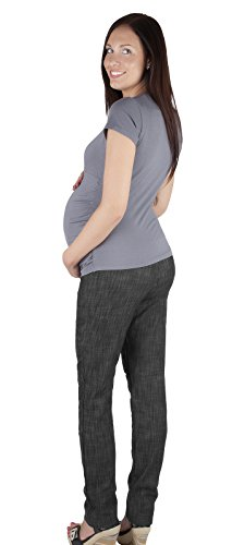 Mija - Pantalon de maternité / Jeans slim Denim Over Bump 3015 Denim Noir