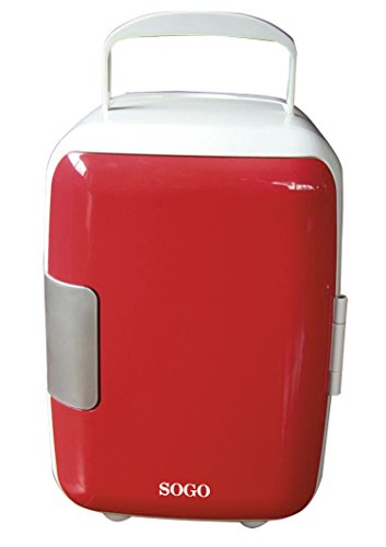 Sogo NEV-SS-464R Nevera portátil termoeléctrica frío y calor, 48 W, 4 litros,...
