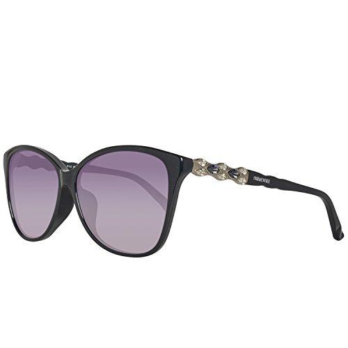Swarovski sk0085-f 6001b, occhiali da sole donna, nero (schwarz), 55
