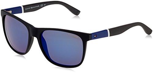 Tommy Hilfiger Herren TH 1281/S XT FMA 56 Sonnenbrille, Schwarz (Bluewhtgry/Blue),