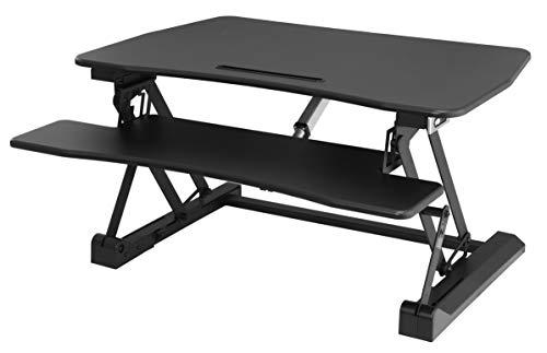 SONGMICS elektrisches Sitz-Steh-Schreibtisch, höhenverstellbarer Stehpult für Computer, Laptop und...