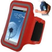 Alcoa Prime Sports Armband Case with Earphone Hole for Samsung Galaxy SIII mini/ i8190 , Galaxy Trend Duos / S7562 (Red)