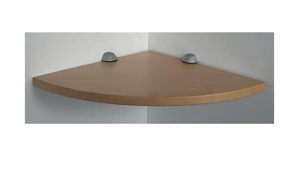 RH/ÖN Wandregal 100x30 cm Buche mit Clip XL weiss// Board Eckablage