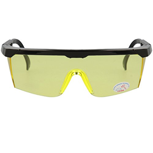 Preisvergleich Produktbild Oramics Schutzbrille für Softair-Waffen UV-Schutz Über-Brille bruchfest mit verstellbarem Bügel, gelb-getönte Schutzbrille
