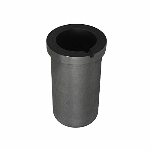 Fcloud Graphittiegel Hochtemperatur-Metallschmelzveredelung für Induktionsschmelzofen 4 kg Gold oder 2 kg Silber (310 ml) -
