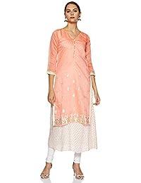 SOCH Women's Silk a-line Kurta