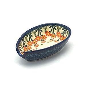 Polish Pottery Spoon Rest – Peach Spring Daisy
