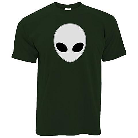 Alien Cool Head UFO Sci-Fi Geeky Nous ne sommes pas seuls Espace UFO T-Shirt Pour Hommes
