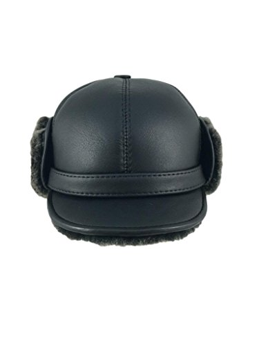 zavelio-womens-shearling-sheepskin-elmer-fudd-pilot-visor-hat-medium-black