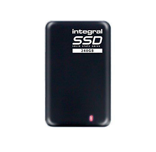 Integral - SSD Portable 240 Go Disque Dur Externe Flash USB 3.0 - Ultra Compact Antichoc - Haute Vitesse jusqu'à 460MB/s