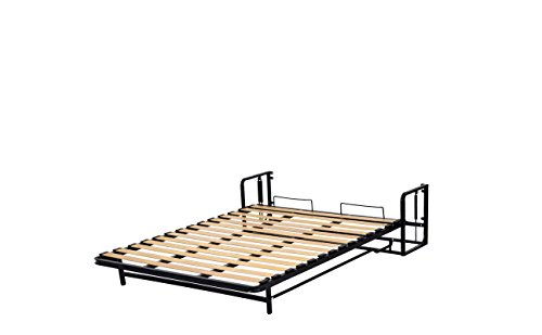 Doppel- Wandbett (Längs) 140x200cm, Klappbett, Schrankbett, Gästebett, Funktionsbett, Vertical 140cm x 200cm - 9