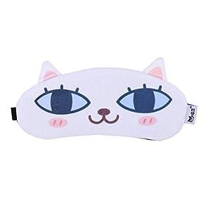 HEALIFTY Cartoon Schlaf Augenmaske Schatten Nap Abdeckung Augenbinde Schlafmaske Augenklappe Schlafbrille (Katze)