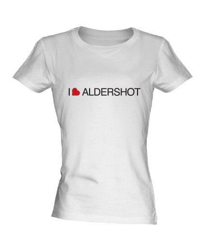 I Love Aldershot Ladies White T-Shirt Fitted T Shirt for sale  Delivered anywhere in Ireland