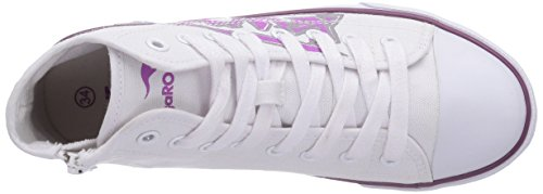 KangaROOS - Kangavulct 2053, Sneaker basse Unisex – Bambini Bianco (Weiß (white/deep orchid 061))