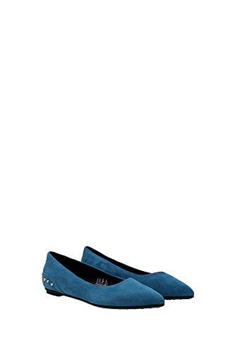 XXW0WW0N050HR0U213 Tod's Ballerine Femme Chamois Bleu Bleu