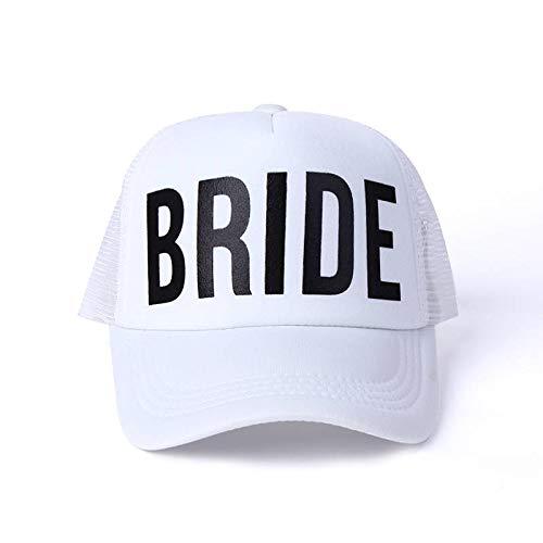 GMZXX Fashion Männer und Frauen Baseball Cap Bachelorette Hüte Frauen Hochzeit Preparewear Trucker Caps Weiß Neon Sommer MeshBride
