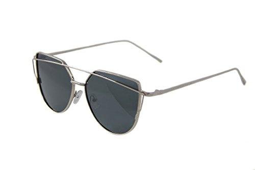 The Gorgeous 1 Damen Sonnenbrille Gr. Medium, Silver Frame Black Lens