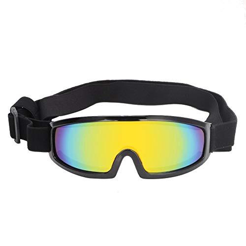 Pssopp Hunde Sonnenbrille UV Schutzbrille für Hunde, Sonnenschutz Brillen Winddicht Augenschutz Hundesonnenbrille mit Breitem Linsendesign für Groß/Mittel Hund(Schwarz)