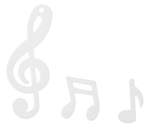 Notenschlüssel Konfetti Streudekoration weiß Musik Notenschlüssel Noten