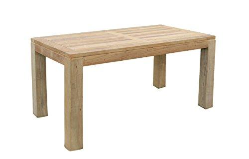 Teak Holz Tisch rechteckig mit quadratischen Eckbeinen 220x100x75cm