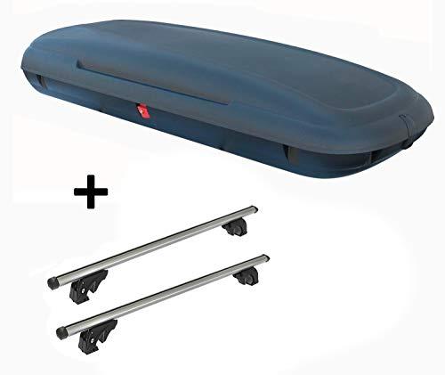 VDPCA480 Coffre de Toit Aspect Carbone + Barres de Toit VDPLION1 Compatible avec Audi A4 (B5/8D) Avant (5 Portes) 94-00