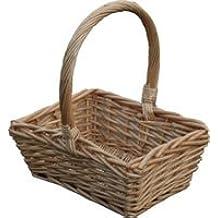 Childs cesta de mimbre cesta de Pascua rectangular