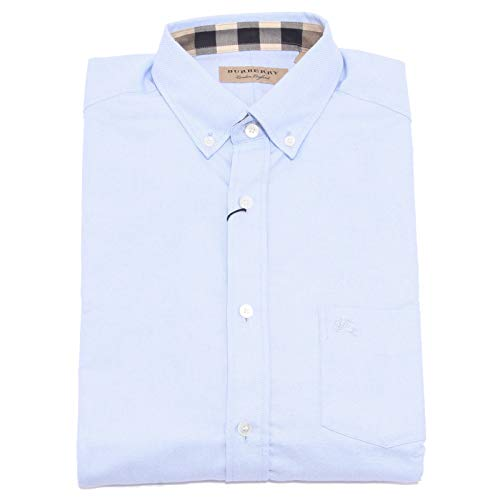 Burberry Herrenhemd Hemd Herren Langarm Langarmhemd reagan blu EU S (UK 36) 3996114