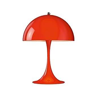 Louis Poulsen Panthella Mini LED Tischleuchte, rot pulverbeschichtet H 33,5cm Ø 25cm 2700K 428lm