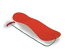 Jamara- 460389-Snow Play 72cm Construcción aerodinámica, Cuerda, Patines deslizantes Snowboard, Color Rojo (460389)