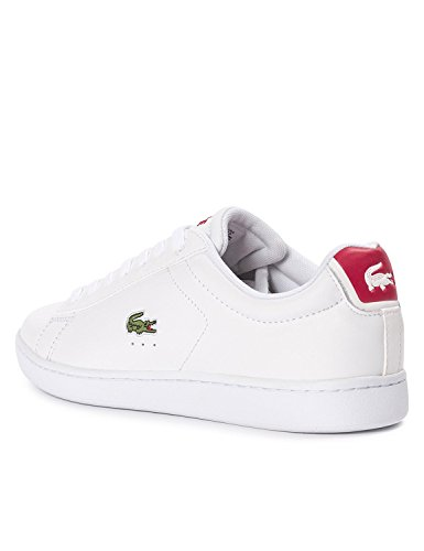 Lacoste Men's Carnaby Evo Men's White Leather Sneakers Weiß