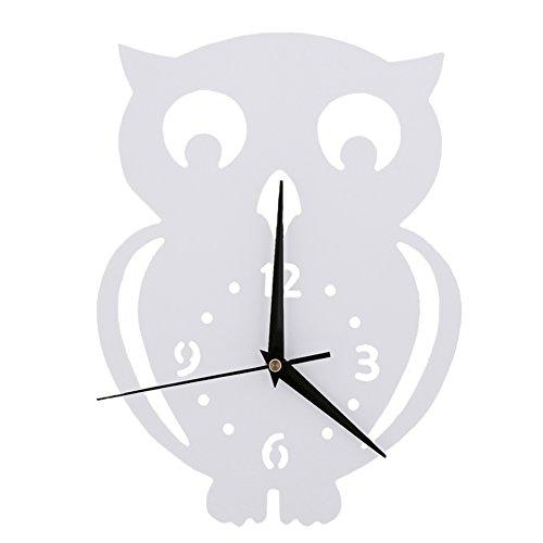 Hibou Horloge murale Chambre d'enfant Chambre Horloge silencieuse Belle Famille Décoration Boutique