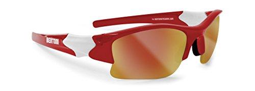 occhiali sole sport da bambino e junior per ciclismo e sci by Bertoni cod.FT JUNIOR C (rosso e bianco)