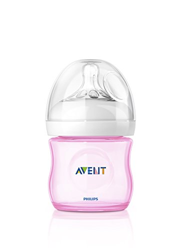 Philips Avent SCF691/17 - Biberón, tetina suave y flexible, anticólicos, PP 0% BPA, 125 ml, color rosa