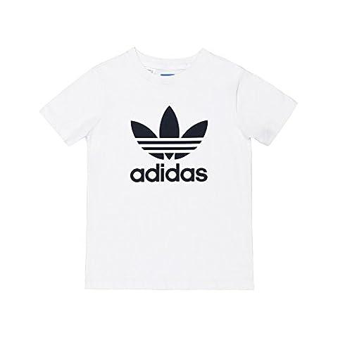 adidas Trefoil T-Shirt Enfant, Blanc, 14 ans