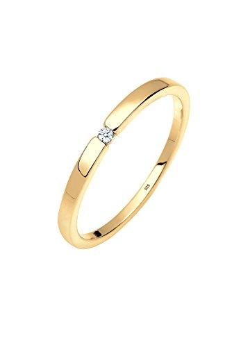Diamore Damen Soltär Verlobungsring 925 Sterling Silber mit Brillantschliff Diamant 0601532318_56