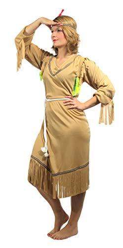 Brandsseller Damen Kostüm Verkleidung - 3-Teiliges-Set - Indianer - L/42-44